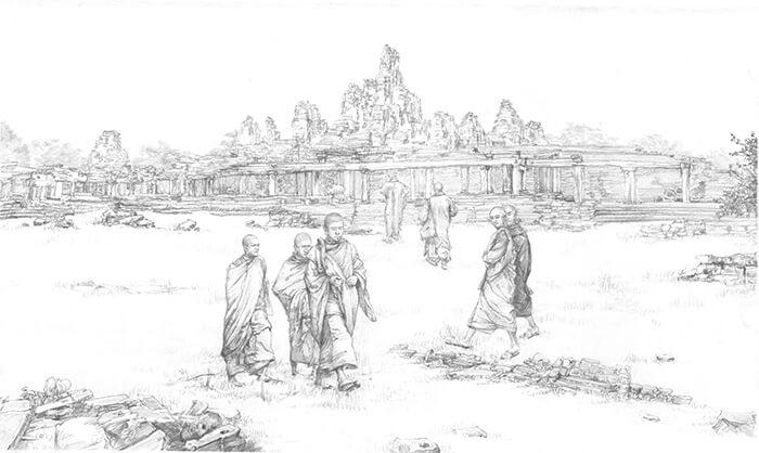 Buddhism established in Cambodia, Vietnam, Indonesia