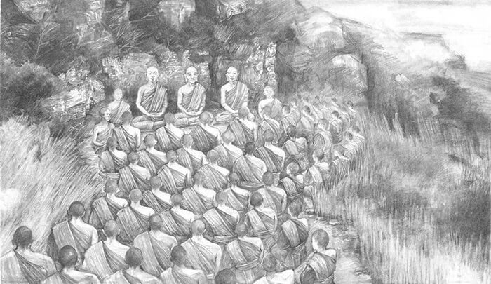 First Buddhist Council and Buddhist Canon established